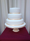 0001 - A blank canvas, the cake shown is a small 3 tier 78 portion cake priced at £118.